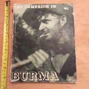 The Campaign In Burma Published 1946 - Paperback Book