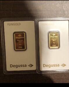 Degussa Goldbarren
