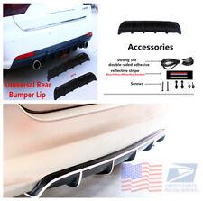 Matte Black Shark Fin Car Body Protector Rear Bumper Lip Diffuser Kit Universal