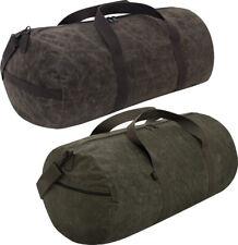 "Waxed Canvas Shoulder Duffle Bag Water Resistant Medium Carry Bag 19"" x 9"" x 9"""