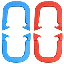 Challenger Highly Durable Pro Pitching Horseshoes- 2 Pair, Red/Blue, Made in USA