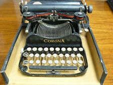 Antique CORONA # 3 Folding Typewriter In Case-AS IS