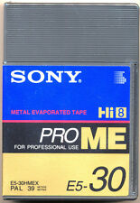 Sony Hi8 ProME E5-30 HMEX Pro Metal Professional Use Hi8/8mm Camcorder Tape NEW