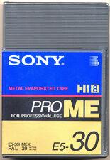 Sony Hi8 BOR E5-30 HMEX Pro Métal Usage Professionnel Hi8/8mm Caméscope Cassette Neuf