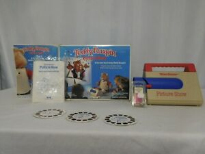 Teddy Ruxpin Picture Show View Master Projector Original Box With  Reels + Tapes