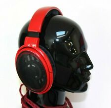 Custom Color Red Sennheiser HD600 Studio Audiophile Headphones With Litz Cable