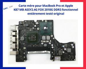 Carte mère MacBook Pro et Apple A1342 K87 MB ASSY2.4G FOX 2010G DDR3 fonction