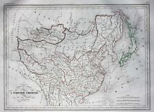 More details for original antique map china & japan, chinese empire, malte-brun, 1846