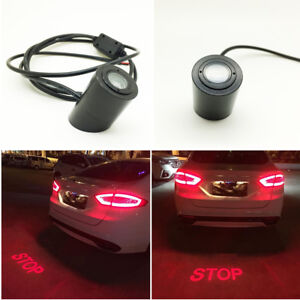 Universal STOP Light Car Laser Brake Lamp Projector Prevent Rear-end Collision
