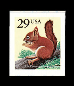 1993 Scott #2489 .29¢ AMERICAN RED SQUIRREL, VF-MNH S/A Booklet Single