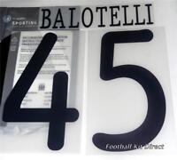 Manchester City Balotelli Uefa Champions League 2011/12 Football Shirt Name Set