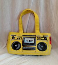 430aa5a435 Fun & Fabulous Retro Parcel Womens Yellow Boombox Tote Shoulder Purse  Handbag