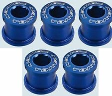 ALLOY CHAINRING BOLTS DOUBLE 10g/set 5 PACK BLUE
