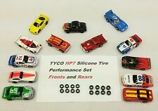 TYCO HP7 HO slot car 16 silicone tire Lot upgrade set .420 Fronts & .444 Rears
