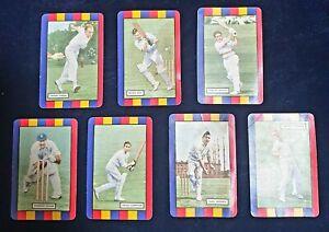 1953-1954 Coles Cricket Cards England Team Set x7 Group Frank Tyson