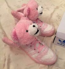 Adidas Jeremy Scott Teddy Bear JS Shoes Pink SUPER RARE Furry Men's 9.5 G44001
