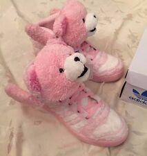 Adidas Jeremy Scott Teddy Bear JS Shoes Pink SUPER RARE Furry Men's 9.5 G44001