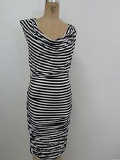 INC INT'L CONCEPTS PETITE  Blue/White Stripe Sleeveless Bodycon Dress-Size SP