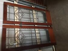 vintage cabinet leadlight doors