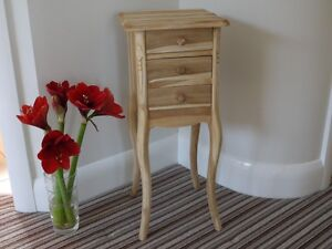 Teak Bedside drawers Cabinet Chest Country style 3 drawer ready to finish