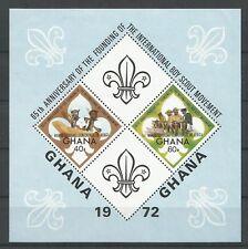 Ghana 1973 BL 48 ** Scoutisme surchargé