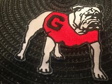 "UGA Georgia Bulldogs Vintage Embroidered Iron On Patch (RARE) 3"" X 2.5"""