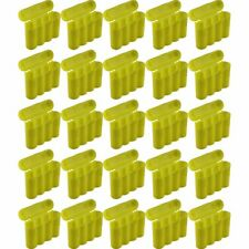 25 Brand New AA / AAA / CR123A Yellow Battery Holder Storage Cases