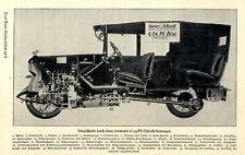 Dixi 6/24 Serienwagen der 20er Jahre Längsschnitt von 1925