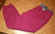 NWT Men's Adidas Burgundy & Grey Everyday Attack Cuffed Fleece Sweatpants 3XLT