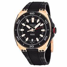 Certina Men's DS Eagle Black Dial Rubber Strap Swiss Quartz Watch C0237103705100