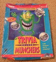 Trivia Munchers Deluxe - MECC - CD-ROM for Windows 95/3.1 & MAC OS 7.1 - New