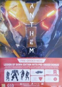 UK VIDEO GAME STORE POSTER - ANTHEM LEGION OF DAWN X-BOX XBOX ONE PS4 BIOWARE EA