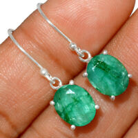 Emerald 925 Sterling Silver Earring Jewelry BE2442