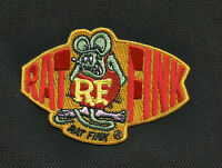 "OFFICIALLY LICENSED ED ""BIG DADDY"" ROTH RAT FINK OVAL W/ RAT HOT ROD RACER PATCH"
