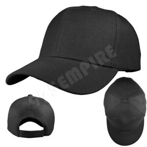 Plain Solid Color Adjustable Baseball Cap Hats For Men Women Unisex