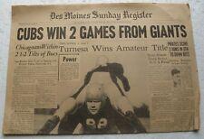 Sep. 18, 1938 Des Moines Register Sports Section HANK GREENBERG, Comets Pro FB