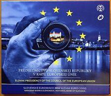Slovacchia 2016 divisionale + commemorativa + folder Presidenza Consiglio UE