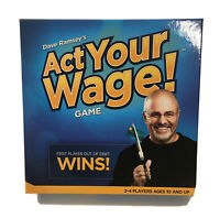 ACT YOUR WAGE! Board Game by Dave Ramsey Financial Peace Get Out of Debt