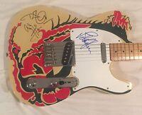 Led Zeppelin Signed Guitar Jimmy Page Autographed Dragon Robert Plant Jones PSA
