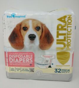 Disposable Dog Diapers Female Dog Diapers Ultra Protection Medium, New