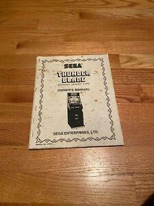 Thunder Blade Video Arcade Game Economy Upright Type Owner's Manual, Sega 1987