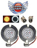 "3"" FLAT STYLE Turn Signal LED Inserts for Harley Davidson GEN-200-AW-1157-T New!"