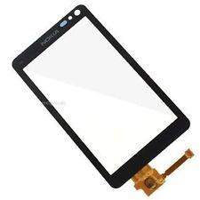 Kit VETRO TOUCH SCREEN per NOKIA N8 display Vetrino senza Frame Cover NERO Nuovo