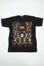 GOLD SKULL T SHIRT MEDIUM (TSDP3)