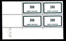 FRANCE TIMBRE FICTIF  F92 ** MNH, coin daté 17.1.50, TB