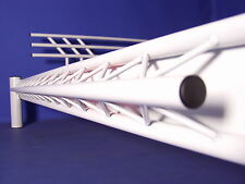 DESIGNER BETT NEONBETT Metallbett Stahlbett Eisenbett Mod. 3P-Weiss 160x200 NEU