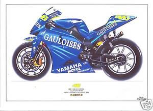 Valentino Rossi ltd edition art print 2004 Yamaha YZRM1