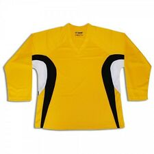 Customized Hockey Jersey with Name and Number! Gold/Black/White Yellow