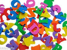 ALPHABET FOAM SHAPES Multi Coloured Capital Letters Approx 78 Pcs (3 Alpha Sets)