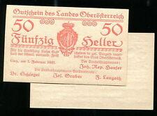 Austria ,  ps 121  , PS121 , 50-HELLER , 1921 , UNC